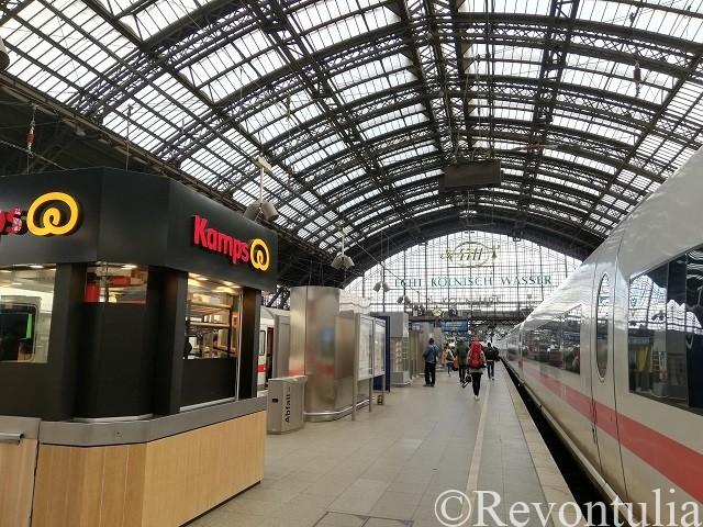 ケルン中央駅のホーム