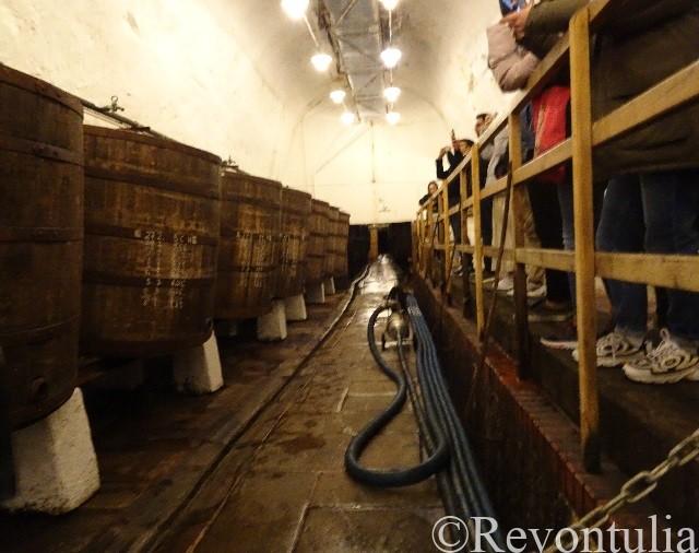 ピルスナーウルケル醸造所の地下の発酵室