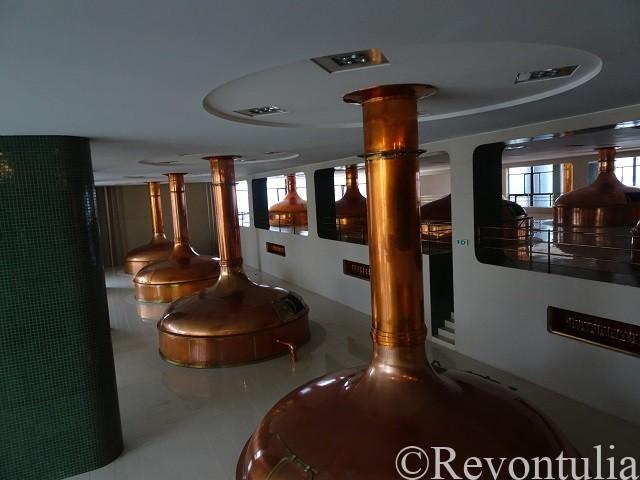 ピルスナーウルケル醸造所の仕込み室