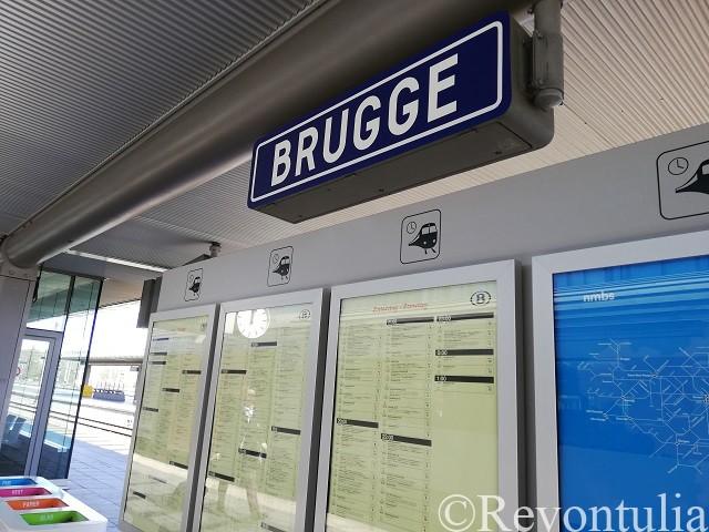 ブルッヘ駅の中にて