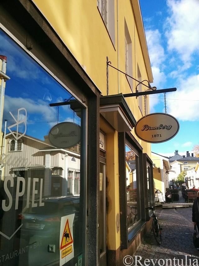 ポルヴォーの老舗菓子メーカーBrunbergのお店