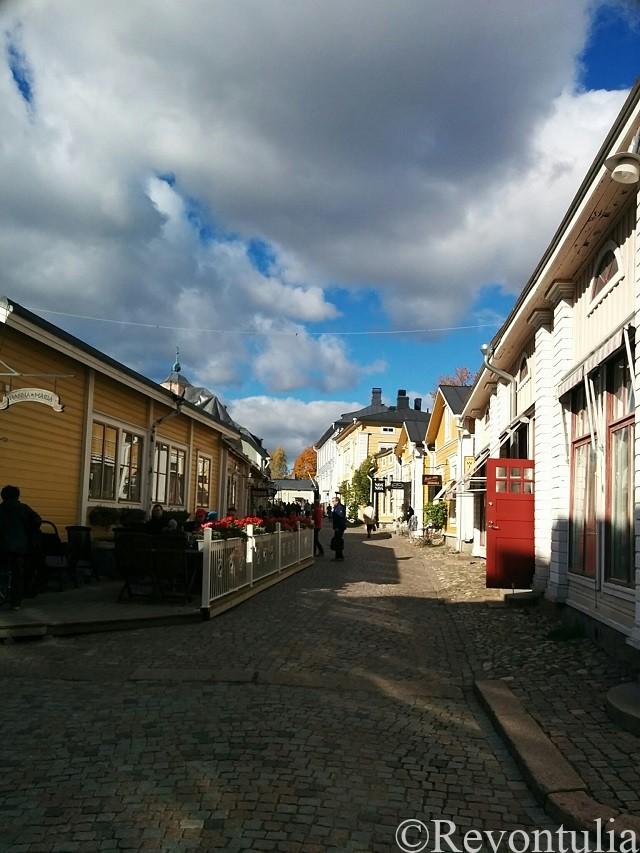 ポルヴォー旧市街のとある通り