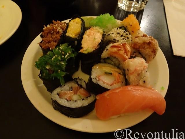 ヘルシンキの寿司レストランにて