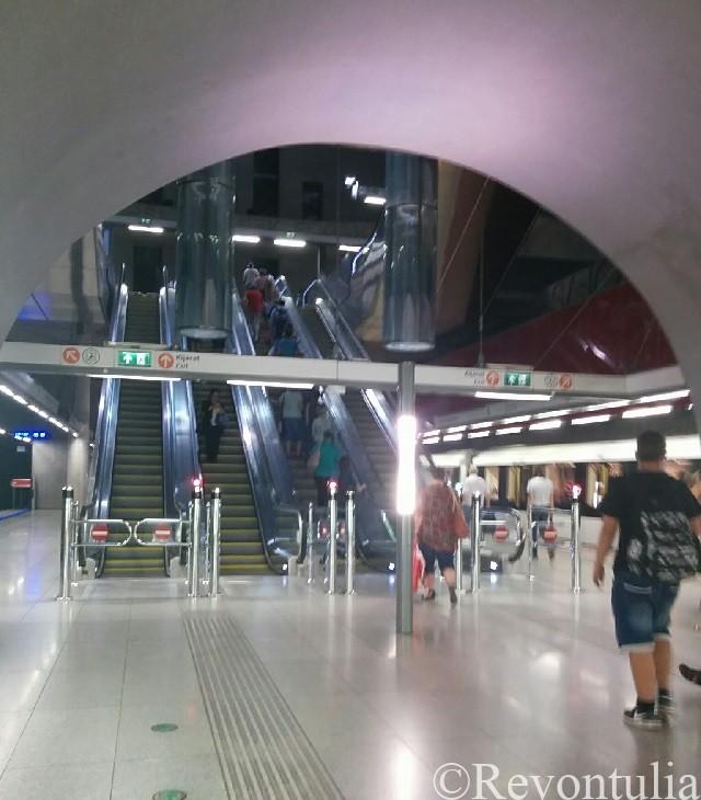 ブダペストのとある地下鉄の駅