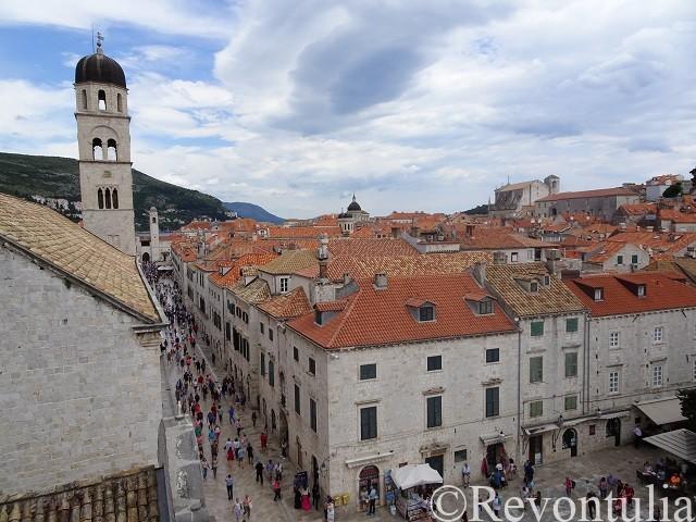 城壁から見たドゥブロヴニク旧市街