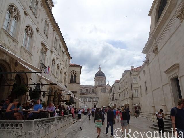 ドゥブロヴニク旧市街のとある場所