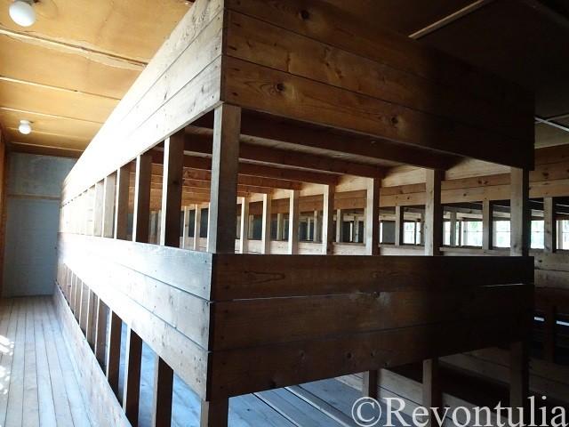 ダッハウ強制収容所の建物のベッド