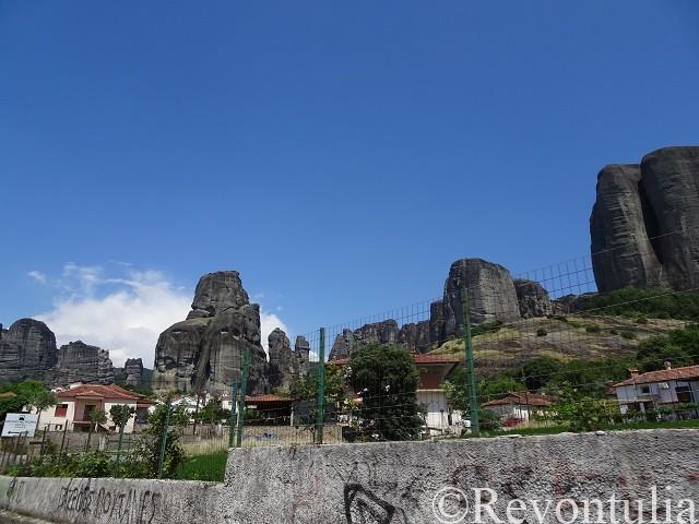 メテオラのある巨岩