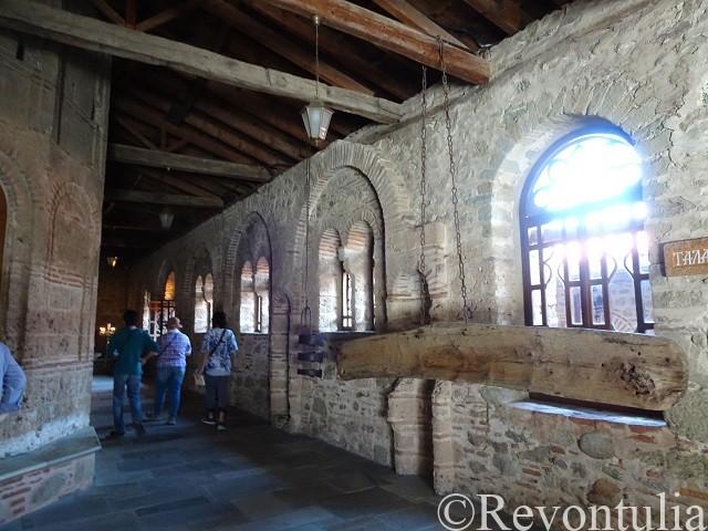 メテオラのメガ・メテオロン修道院の廊下