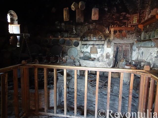 メテオラのメガ・メテオロン修道院の中世の厨房
