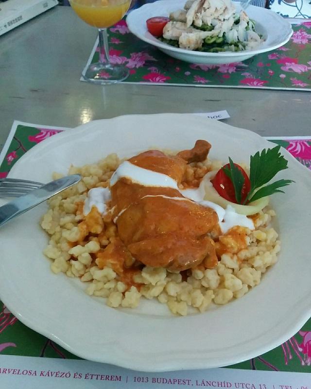 ブダペストで食べたランチ