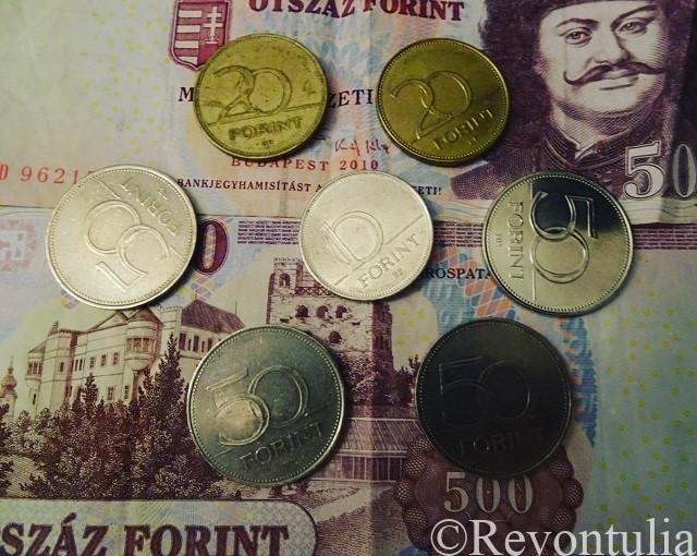 ブダペストの通貨フォリント