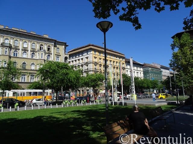ブダペストのラーコーツィ広場駅周辺