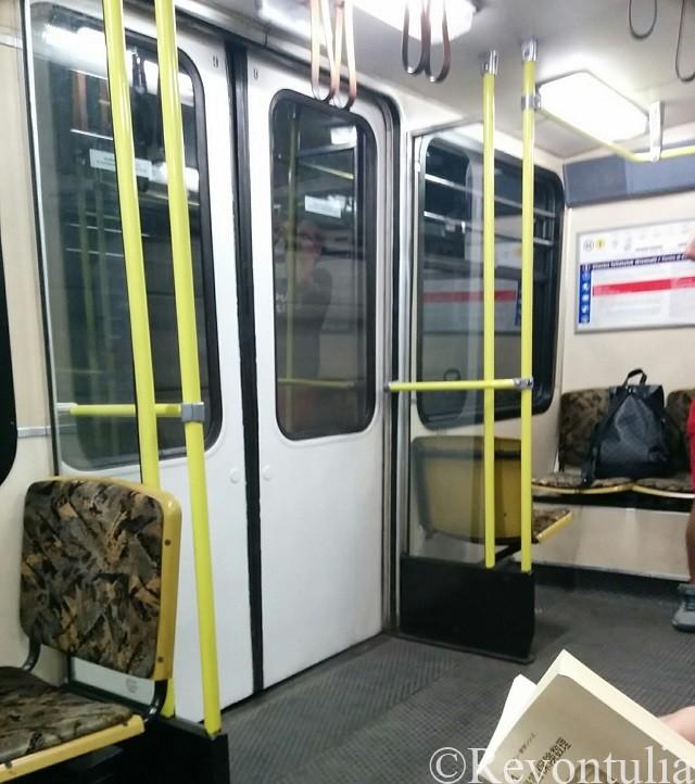 ブダペスト地下鉄1号線車内