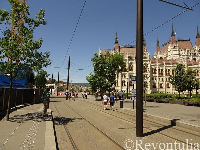 ブダペスト国会議事堂の近く