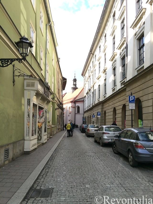 クラクフ旧市街のとある通り