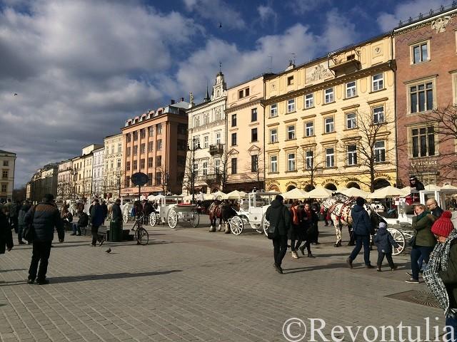 クラクフ旧市街の中央広場