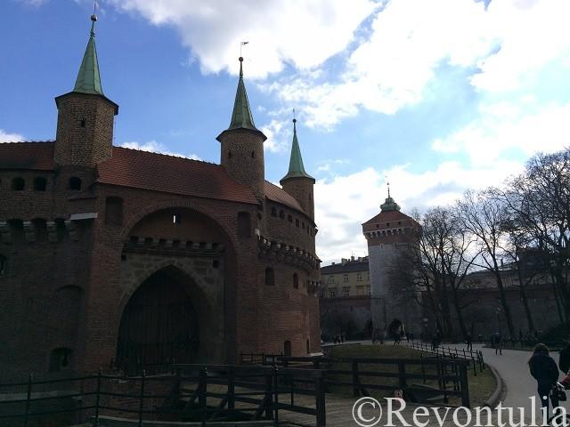 クラクフ旧市街のバルビカン