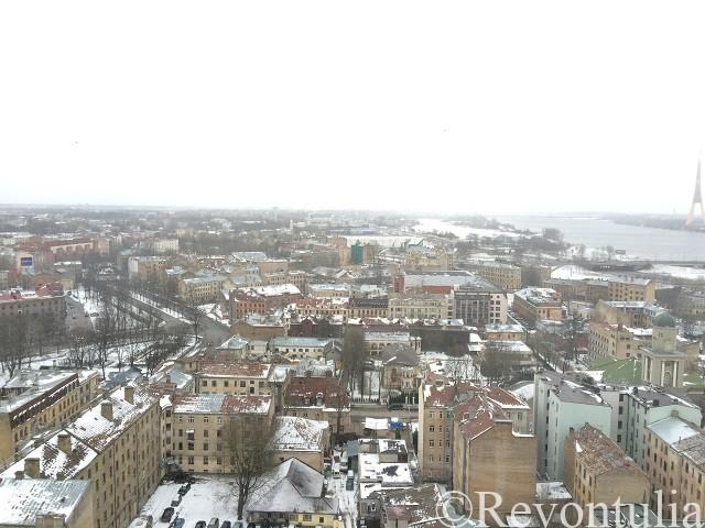 リガ新市街の眺め