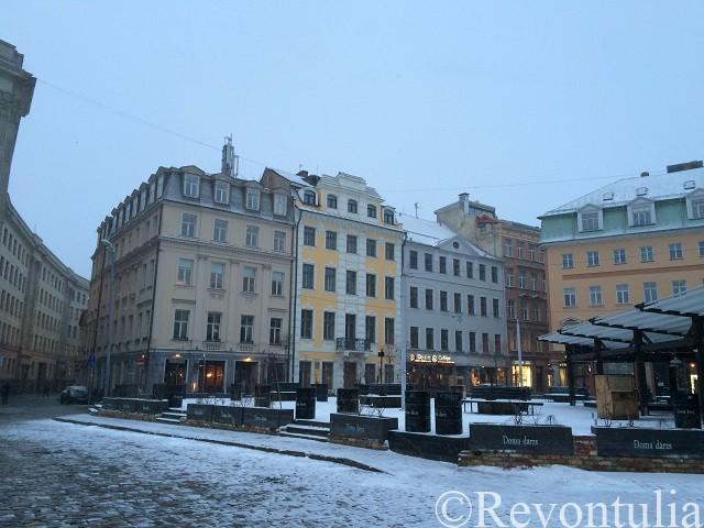 リガ旧市街のとある広場