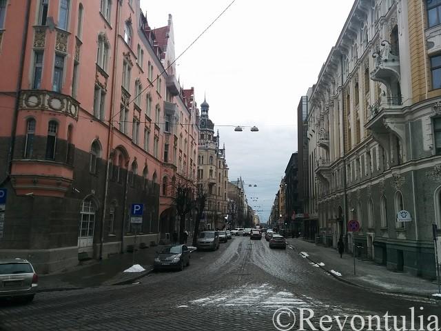 リガ旧市街のとある通り