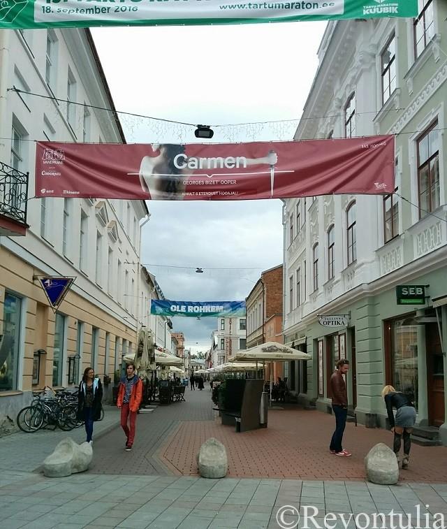 タルトゥ旧市街のとある通り