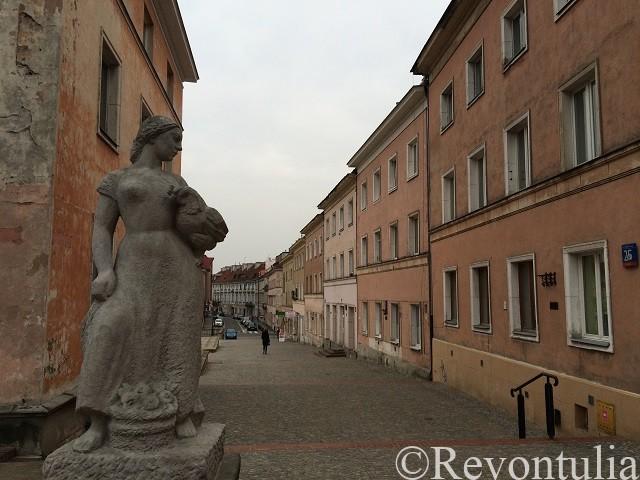 ワルシャワ旧市街のとある場所