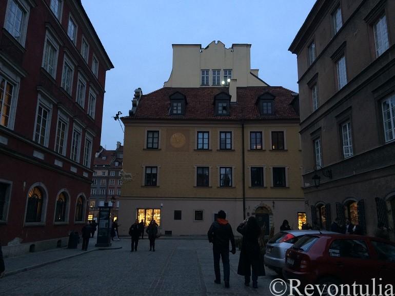 夕方のワルシャワ旧市街