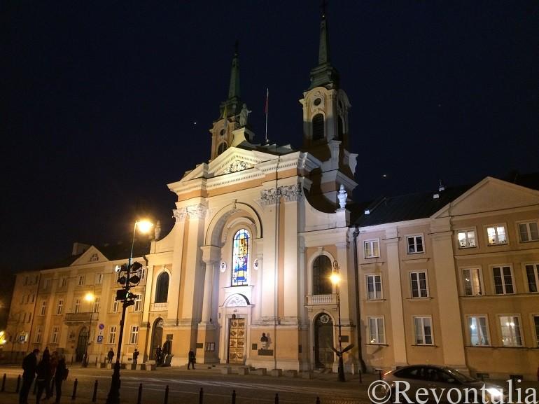 ワルシャワ新市街のとある教会