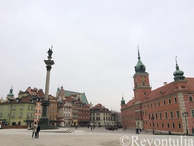 ワルシャワ旧市街の王宮広場