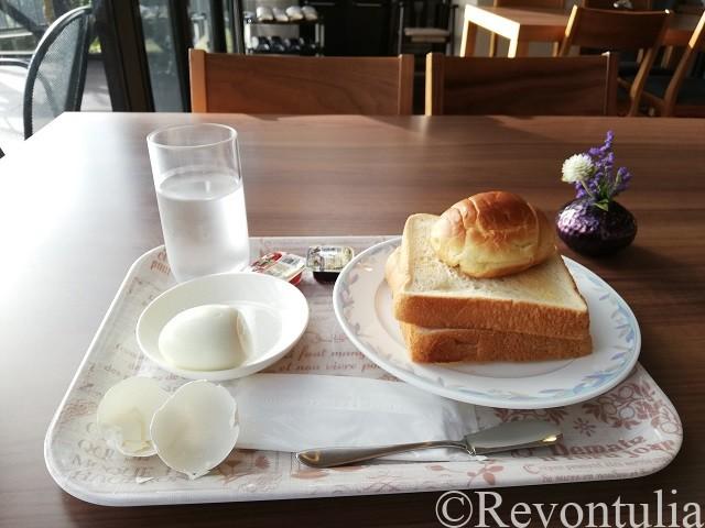 由布院の温泉旅館やまなみの朝食