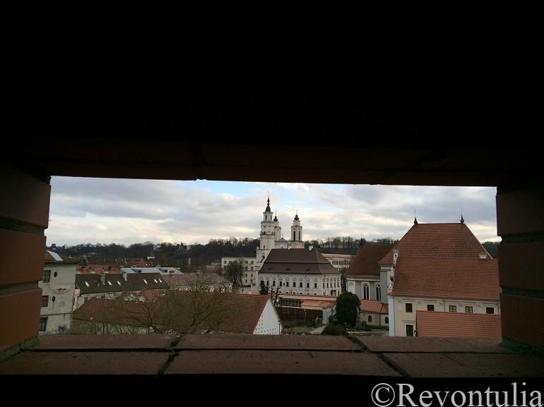 カウナスの窓から見た中心街