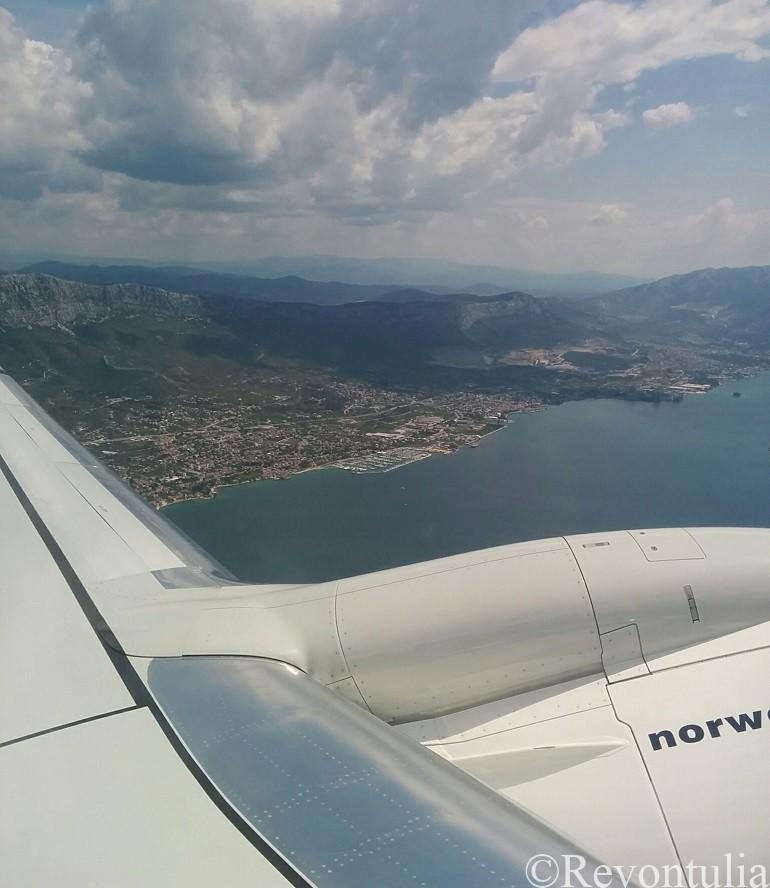 飛行機から見たスプリット