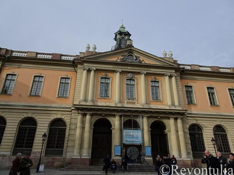ストックホルムのノーベル博物館