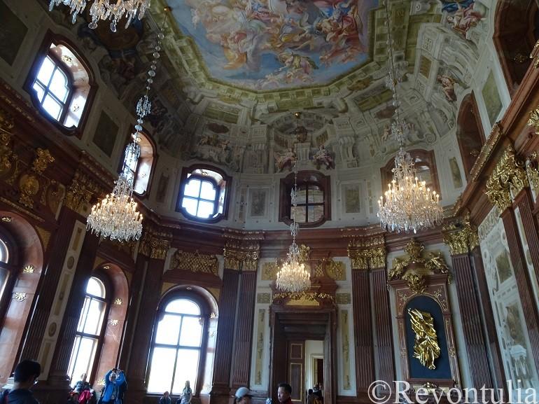 ウィーンのベルヴェデーレ宮殿の天井画