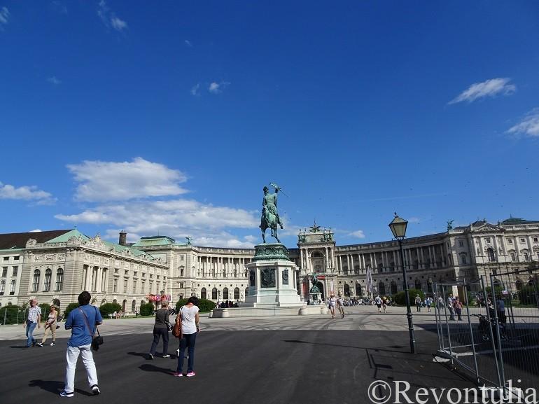 ウィーンのホーフブルク宮殿