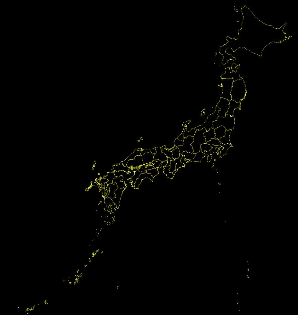 黒い日本地図