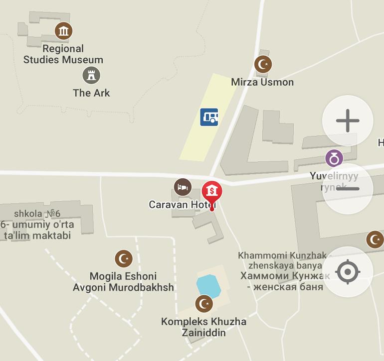 MAPS.MEのブハラの地図