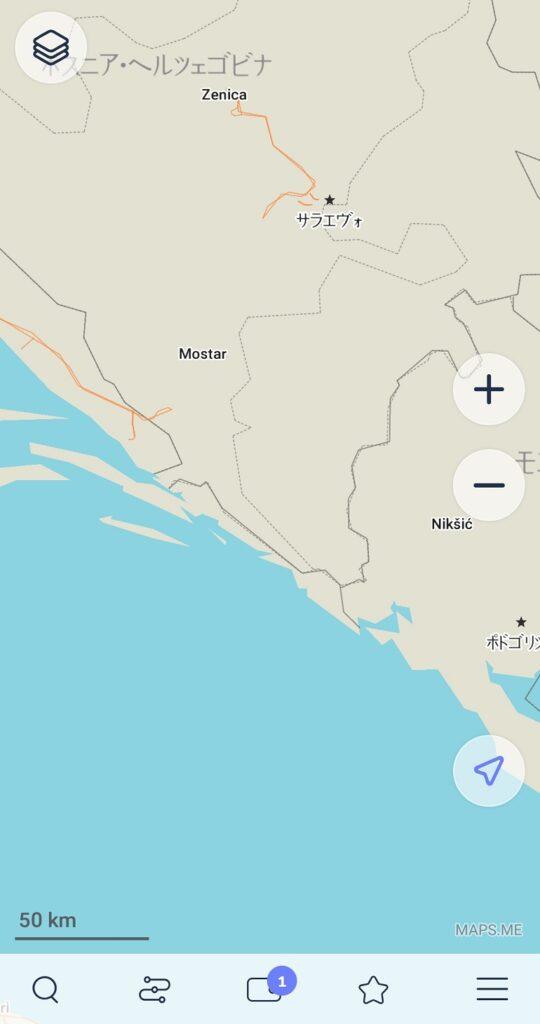 MAPS.MEのクロアチアの地図