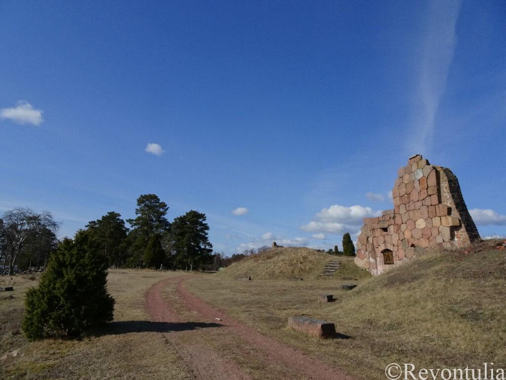 オーランド諸島のボマルスンド要塞跡