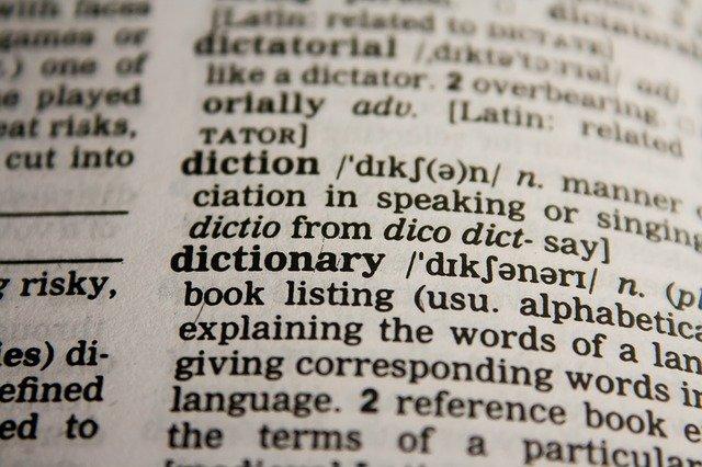英英辞典の写真