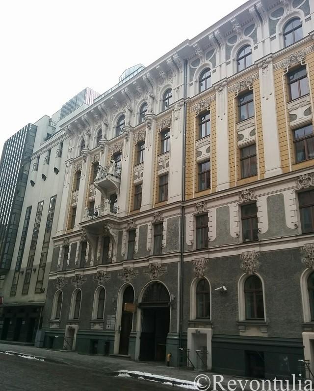 リガのアールヌーヴォーっぽい建物
